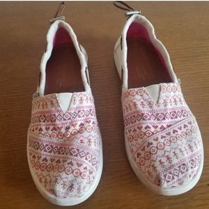 TOMS slip on shoes for girls. Size 3.